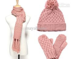 Winter Knit Scarf,Hat And Gloves Set ...