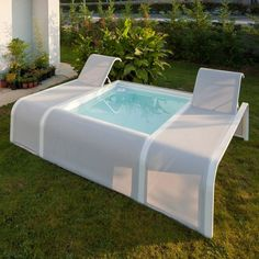 Small Backyard Pools, Backyard Sheds, Small Pools, Swimming Pools Backyard, Swimming Pool Designs, Shipping Container Swimming Pool, Mini Piscina, Kleiner Pool Design, Moderne Pools
