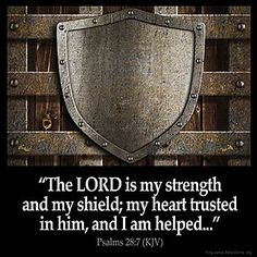 Inspirational Image for Psalms 28:7