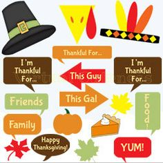 Thanksgiving Photo Prop Signs is a digital file format that can be printed at home, cut and attached to sticks. These are both kid friendly and