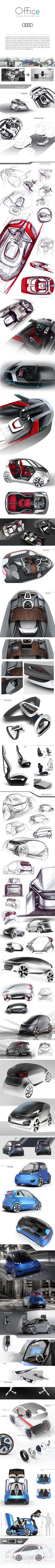 Audi Office concept by Konrad Cholewka, via Behance