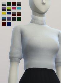 S4 _Half Sleeves Turtle-Neck Sweater Dress (18 color) : 네이버 블로그 #sweaterdress