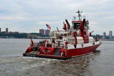 FDNY Fireboat Firefighter II   Firefighter Appreciation weekend on the Intrepid in NYC  Photo by nyfirestore.com
