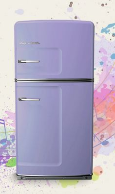 Love it? Can't stand it? Purple upgrades are FREE with Big Chill in July! Click to discover more. #RetroFridge