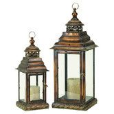 2 Piece Frida Candle Lantern Set