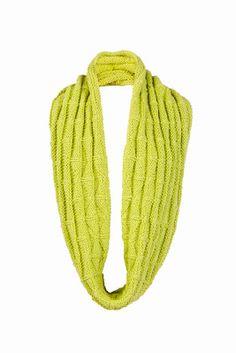 Free Knitting Pattern: Textured Infinity Scarf #knitting #shibui