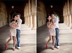 Stanford University, Palo Alto Engagement Portrait and Wedding Photography