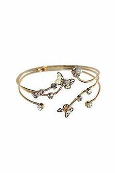 Shoptiques Product: Butterfly Flower Bangle