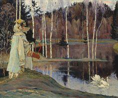 Lovers - Mikhail Vasilevich Nesterov - 1905