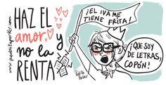 ¡Haz el amor y no la Renta! #pedritaparker #renta #humor #viñeta