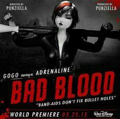 "Gogo starring as ""Adrenaline"" - Bad Blood"