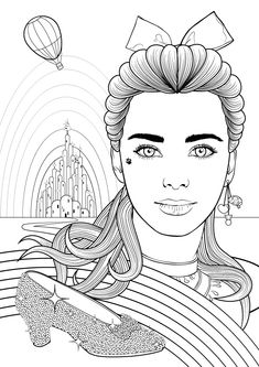 The Wizard of Oz is an iconic movie which covers many themes. One of my favourites is that of colour. With this in mind, I've decided to create my own colouring book style illustration of its protagonist, Dorothy Gale. In this tutorial, I'm going to show you many different ways to create line art in the process of creating this tribute.