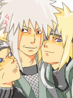 Jiraiya Naruto | Minato, jiraiya & Naruto - Minato Namikaze Fan Art (24219522) - Fanpop ...