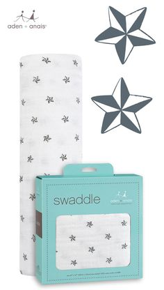 A classic cotton muslin star swaddle = the perfect gift for baby (and mom).