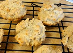 Scones with Almond Flour - Linda, (from low carb recipes), said that she made them as  drop scones instead of spreading them in the pan and smoothing the tops. The texture came out a lot more scone/biscuit-like.. with lots of crunchy, craggy bits on the outside. They're very nice fresh from the oven. - 3g Net Carbs per scone