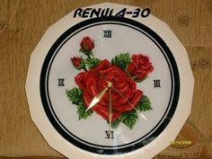 Robótki Renuli:haftowany zegar