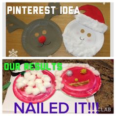 Morning Christmas crafts. Nailed it!