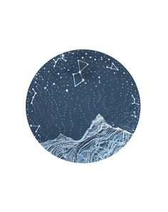 Fine Art Print-Lyra Constellation by elisemahanfineart on Etsy
