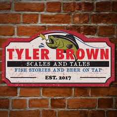 Custom Home Bars, Home Bar Signs, Personalized Wooden Signs, Fishing Signs, Camping Signs, Fish Ponds, Signage Design, Wood Pallets, Pallet Wood