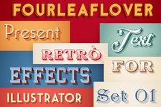 Illustrator Vector Text Effects by FourLeafLover on Creative Market