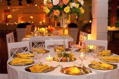 Por Toda Vida - Casamentos: Decoração   Casamento amarelo e laranja