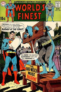 Comic Book Critic - Google+ - World's Finest Comics #186 (Aug '69) cover by two legends - Curt Swan & Neal Adams.
