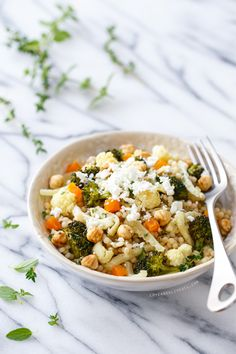 Roasted Fennel and Israeli Cous Cous Salad from @loveandoliveoil