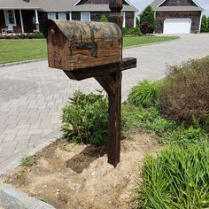Tom added a photo of their purchase Us Mailbox, Mailbox Ideas, Rustic Mailboxes, Vintage Mailbox, Rustic Kitchen Island, Pine Boards, Natural Wood Finish, Hand Carved, Carving