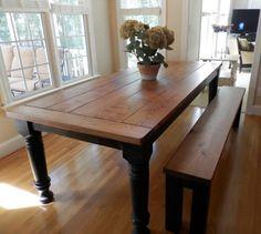 Massive Farm Dining Table Leg