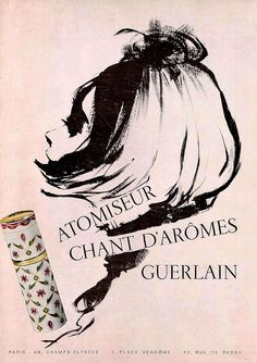 60s ad : Chant d'Arômes, a Guerlain perfume    source : L'officiel magazine, n° 501-502, 1963