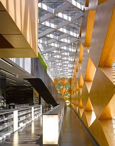 Two libraries for washington DC - atrium
