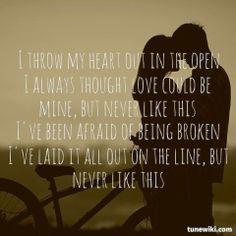 """-- #LyricArt for """"Never Like This"""" by Danielle Bradbery"""