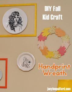 Hello Awesome: DIY Fall Kid Craft: Handprint Wreath