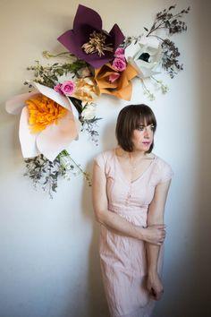 Paper // Huge Paper Flowers DIY - Live Free Creative Co