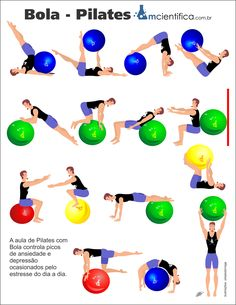 como fazer pilates com bola - auralpro. Pilates Abs, Pilates Training, Pilates Workout, Pilates At Home, Pilates Video, Bola Pilates, Pilates Solo, Yoga Fitness, Sport Fitness