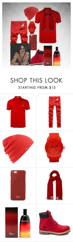 """johnny in red"" by princhelle-mack ❤ liked on Polyvore featuring Moncler, Burton, Diesel, Native Union, Acne Studios, Christian Dior, Timberland, men's fashion and menswear"