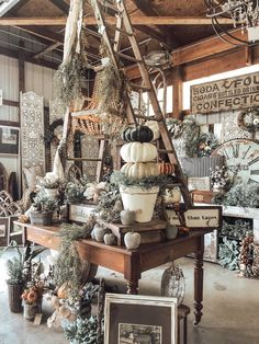 We have been getting a lot of questions asking why our market has this, or doesn't have that. Fall Store Displays, Christmas Store Displays, Antique Store Displays, Gift Shop Displays, Christmas Booth, Craft Booth Displays, Antique Stores, Autumn Displays, Country Store Display