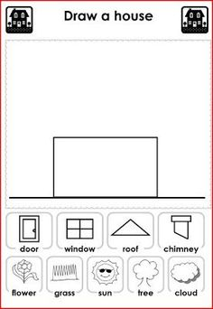 House Worksheets For Kids Learning English For Kids, English Worksheets For Kids, English Lessons For Kids, Kids English, English Activities, Language Activities, Teaching English, Learn English, Educational Activities