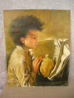 """Copia """"Il salvadanaio"""" di D. Morelli Acrilico su carta"""