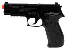 Pistola Airsoft SIG SAUER P226 - 6mm - Ferrolho Metal Velocidade ( 0,20 gr BBS ) - 256 fps/ 78ms Energia : 0,6 Joules Distância Maxima : 30 metros. Peso 480gramas.. Dimensões: 19,8cm. Capacidade do magazine : 12 BBs Calibre 6mm.   Acompanha a arma : 01 Magazine ( capac. 12BBS)