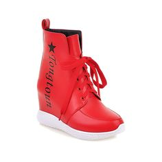 MayMeenth Women's Round Closed Toe Low-top High-Heels Assorted Color PU Boots * You can get more details by clicking on the image.