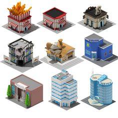 Isometrics buildings