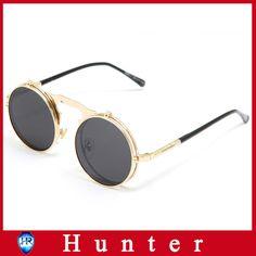 e6a11cf0fd 2014 New Arrival flip sunglasses Sun Glasses Women steampunk Sunglasses  Steampunk Glasses Mirror Sunglasses Round Shades