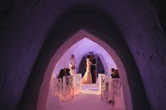 destination wedding photography lapland, wedding ceremony in the ice chapel, snow village kittila, ARJ Photography