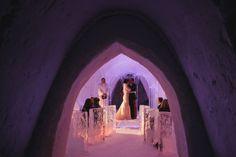 destination wedding photography lapland, wedding ceremony in the ice chapel, snow village kittila, ARJ Photography