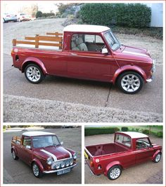 1969 Mini Cooper S Ute / Pickup For Sale - Classic Car Photography Mini Cooper S, Mini Cooper Classic, Classic Mini, Mini Trucks, Cool Trucks, Cool Cars, Weird Cars, Classic Trucks, Classic Cars