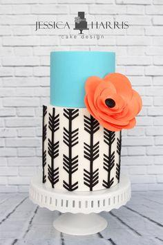 11 Non Froufrou Wedding Cakes from Jessica Harris Cake Design Gorgeous Cakes, Pretty Cakes, Amazing Cakes, Cupcakes, Cupcake Cakes, Cake Original, Bolo Floral, Cake Templates, Just Cakes