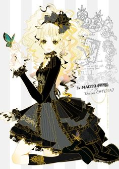 h.Naoto black and gold dress #gothic #lolita