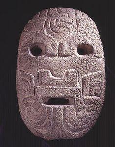 Basalt Olmec Mask, Mexico  Circa: 900 BC to 500 BC