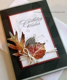 French Foliage stamp. Card by Michelle Le Breton